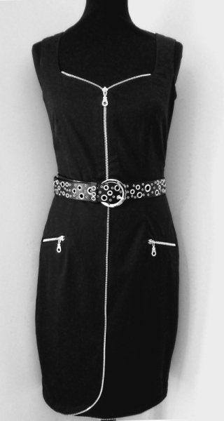 cotton lycra zipper dress