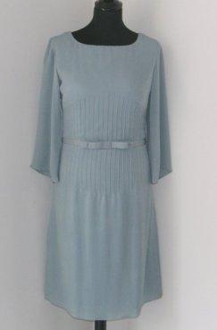 Silk Crepe Georgette pin tucks dress