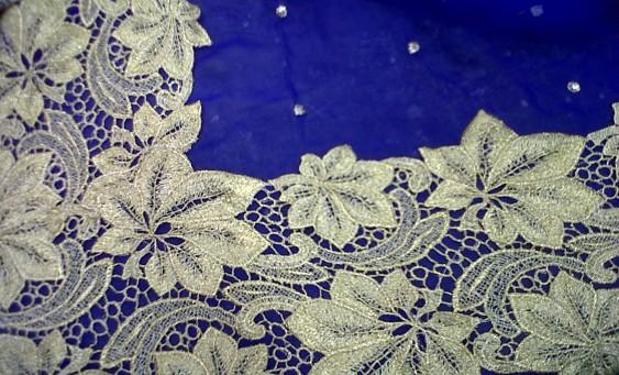 French lace chiffon sari