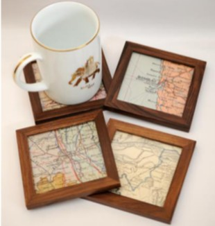 old map coasters