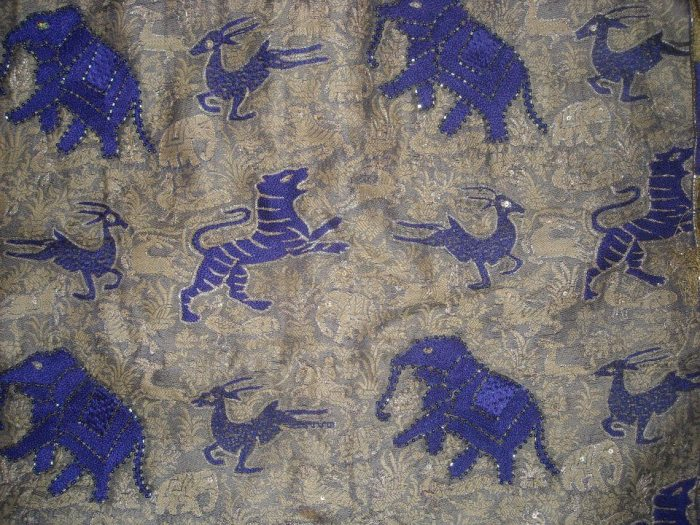 Shikaarbagh Motifs on a cotton saree