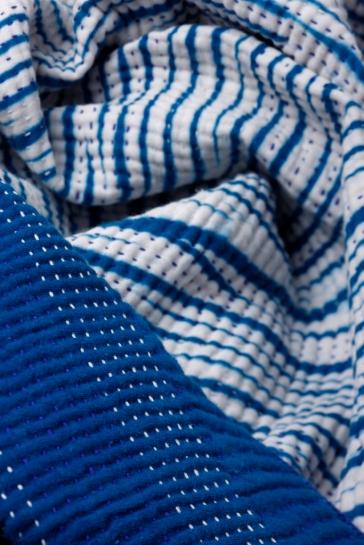 Shibori indigo quilt 2d