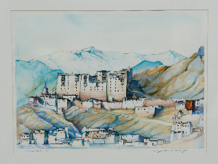 Namgyal Palace in Winter Light 14 X 19in-10