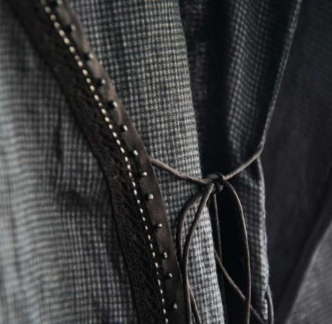 Artisau cotton silk kota check kurta with dotted pyjamas