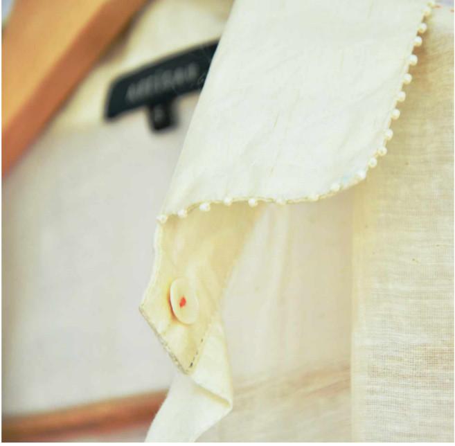 Artisau Summer15 cream sheer jacket