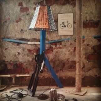 bicycle stand plastic woven lamp