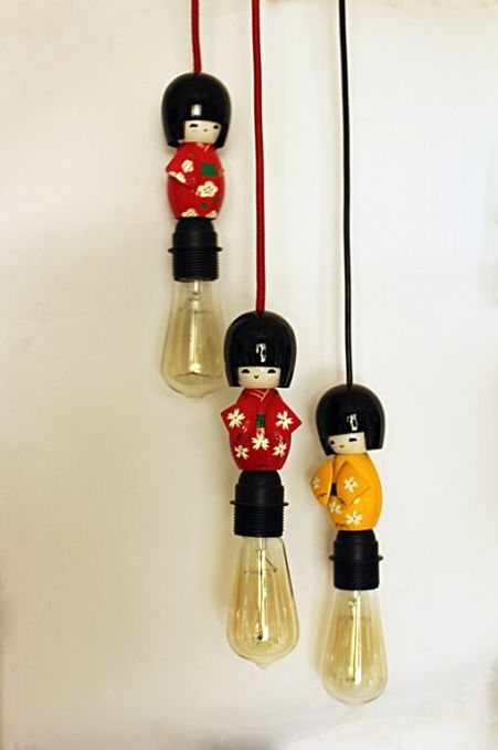 japanese tradional doll lampshade