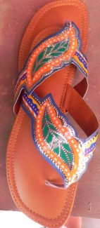 truck art fancy slippers from pakistan