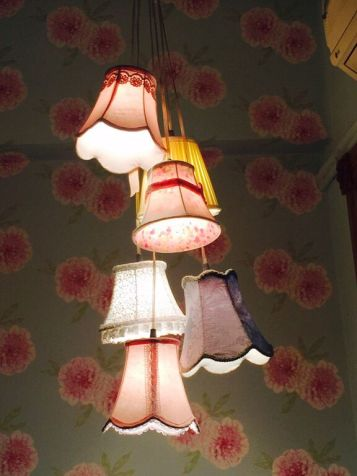 victorian lampshades cluster