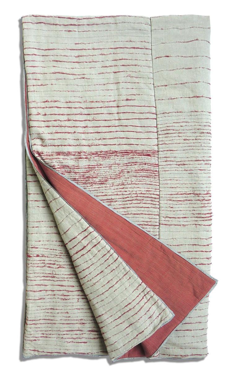 EktaKaul-Richmond Embroidered-red & fawn